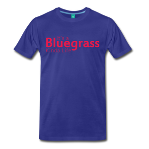 Men's Bluegrass Kinda Life T-Shirt - royal blue