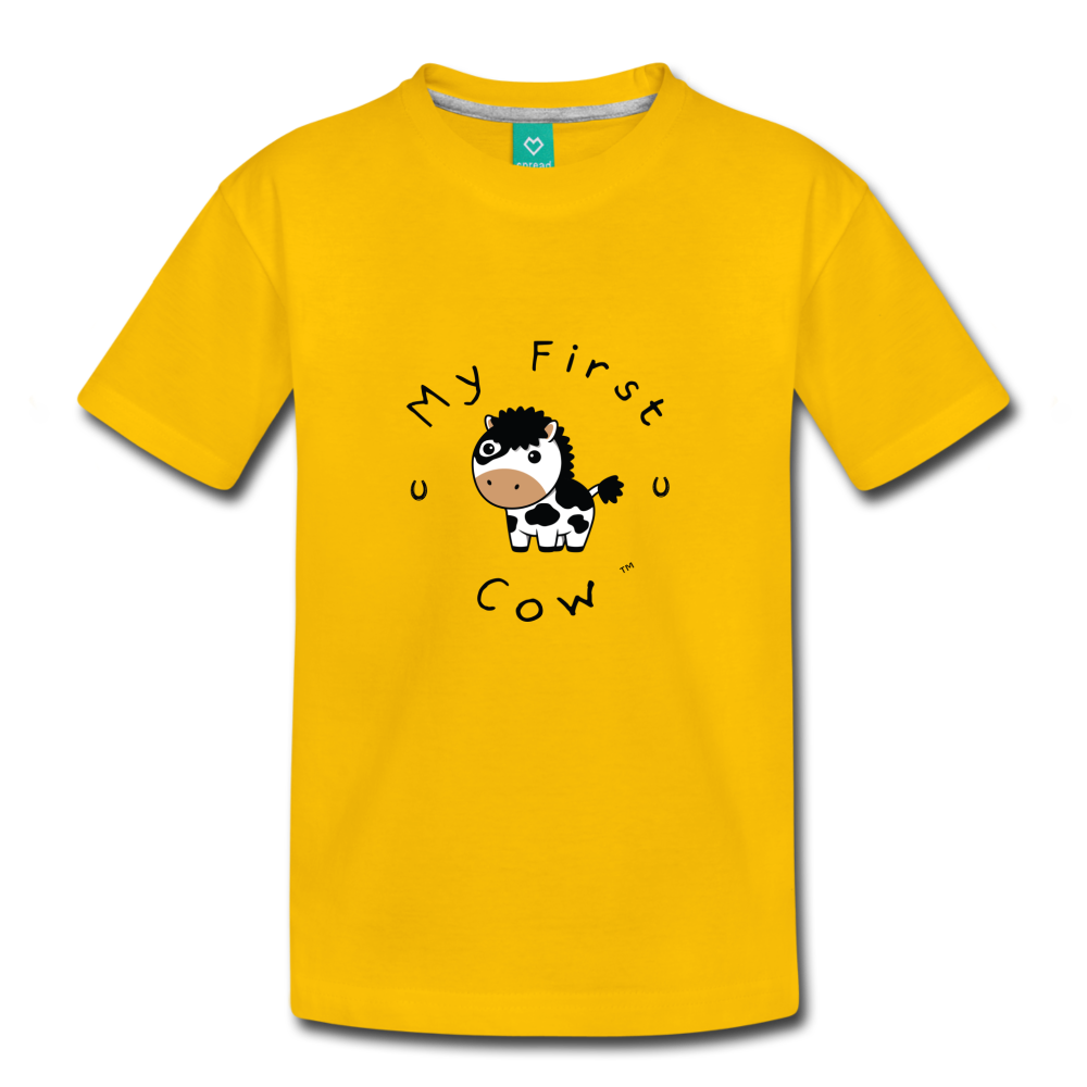 Toddler My First Cow T-Shirt - sun yellow
