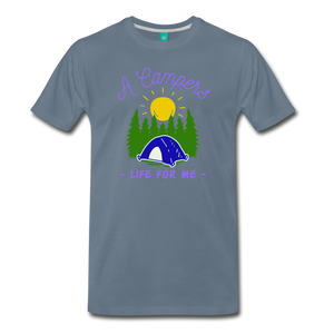 Men's Campers Life T-Shirt - steel blue