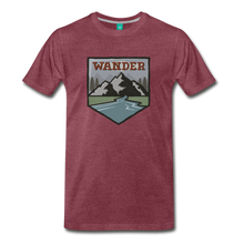 Load image into Gallery viewer, Men's Wnderer T-Shirt - heather burgundy