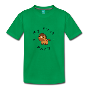 Toddler My First Pony T-Shirt (light brown) - kelly green