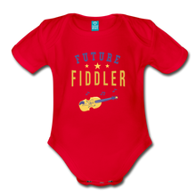 Load image into Gallery viewer, Future Fiddler Baby Bodysuit - red