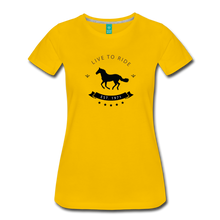 Load image into Gallery viewer, Women's Live to Ride T-Shirt - sun yellow
