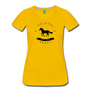 Women's Live to Ride T-Shirt - sun yellow