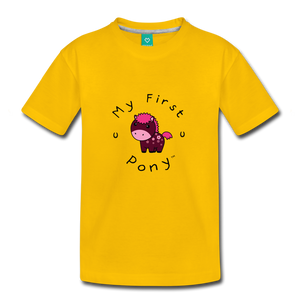 Toddler My First Pony T-Shirt (magenta) - sun yellow