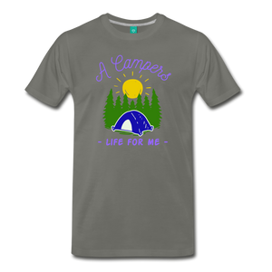 Men's Campers Life T-Shirt - asphalt