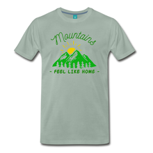 Load image into Gallery viewer, Men's Mountains Feel Like Home T-Shirt - steel green