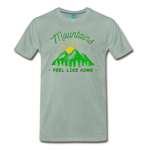 Men's Mountains Feel Like Home T-Shirt - steel green