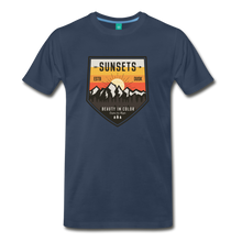 Load image into Gallery viewer, Men's Sunset T-Shirt - navy