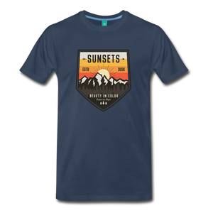 Men's Sunset T-Shirt - navy