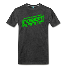 Load image into Gallery viewer, Men's May the Forest be with You T-Shirt - charcoal gray