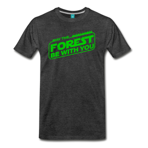 Men's May the Forest be with You T-Shirt - charcoal gray