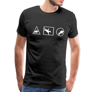 Men's Horse Symbols (solid) T-Shirt - black