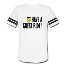 Load image into Gallery viewer, Men's Vintage Sport Have a Great Ride T-Shirt - white/black