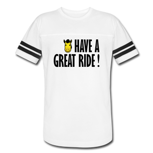Men's Vintage Sport Have a Great Ride T-Shirt - white/black