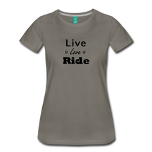 Load image into Gallery viewer, Women's Live Lover Ride T-Shirt - asphalt