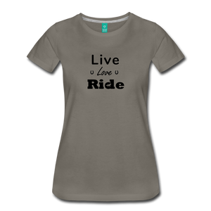 Women's Live Lover Ride T-Shirt - asphalt