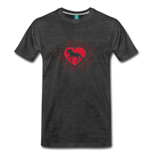 Load image into Gallery viewer, Men's Sunburst Heart Horse T-Shirt - charcoal gray