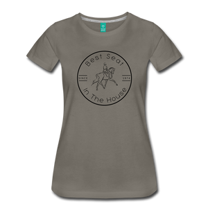 Women's Best Seat in the House T-Shirt - asphalt