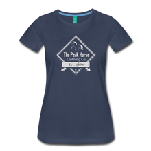 Load image into Gallery viewer, Women's The Peak Horse Diamond T-Shirt - navy
