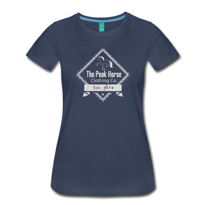 Women's The Peak Horse Diamond T-Shirt - navy