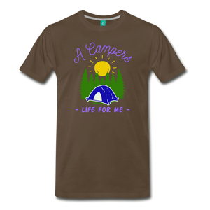Men's Campers Life T-Shirt - noble brown