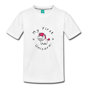 Toddler My First Unicorn T-Shirt (white) - white