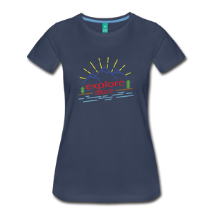 Women's Colored Explore More T-Shirt - navy