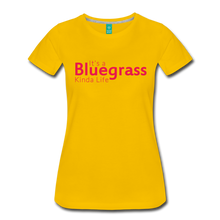 Load image into Gallery viewer, Women's Bluegrass Kinda Life T-Shirt - sun yellow