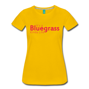 Women's Bluegrass Kinda Life T-Shirt - sun yellow