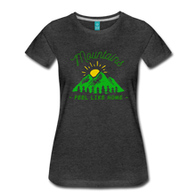 Load image into Gallery viewer, Women's Mountains Feel Like Home T-Shirt - charcoal gray