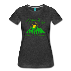 Women's Mountains Feel Like Home T-Shirt - charcoal gray