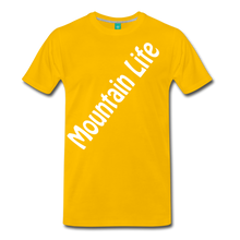 Load image into Gallery viewer, Men's Diagonal Mountain Life T-Shirt - sun yellow