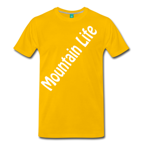 Men's Diagonal Mountain Life T-Shirt - sun yellow