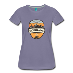 Women's Mountain's Calling T-Shirt - washed violet
