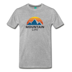 Mountain Life Shirt - heather gray