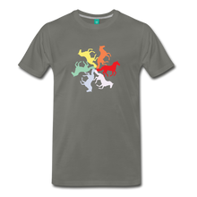 Load image into Gallery viewer, Men's Rainbow Horse Circle T-Shirt - asphalt