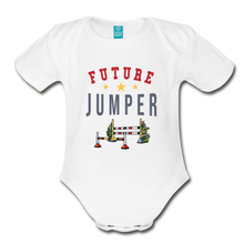 Load image into Gallery viewer, Future Jumper Baby Bodysuit - white