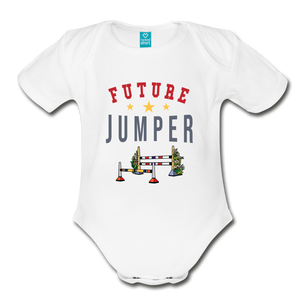 Future Jumper Baby Bodysuit - white