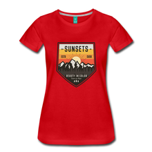 Load image into Gallery viewer, Women's Sunset T-Shirt - red