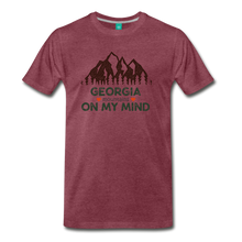 Load image into Gallery viewer, Men's Georgia on my Mind T-Shirt - heather burgundy