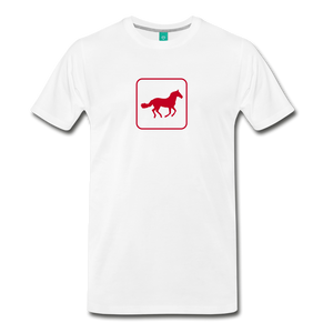 Men's Horse Icon T-Shirt - white
