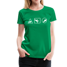 Load image into Gallery viewer, Women's Horse Symbols (solid) T-Shirt - kelly green