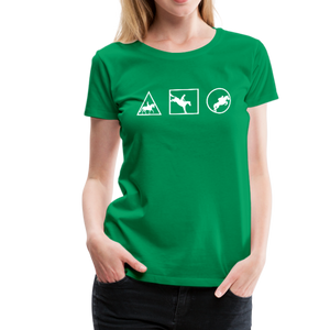 Women's Horse Symbols (solid) T-Shirt - kelly green