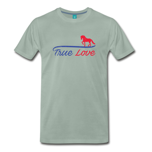 Men's True Love T-Shirt - steel green