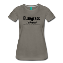 Load image into Gallery viewer, Women's Bluegrass Definition T-Shirt - asphalt