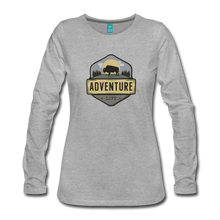 Load image into Gallery viewer, Women's Adventure Life Long Sleeve Shirt - heather gray
