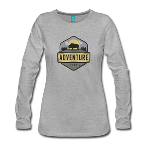 Women's Adventure Life Long Sleeve Shirt - heather gray