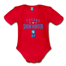 Load image into Gallery viewer, Future Shown Hunter Baby Bodysuit - red