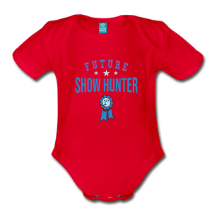 Future Shown Hunter Baby Bodysuit - red
